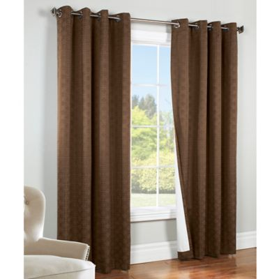 Commonwealth Home Fashions Irongate 84-Inch Insulated Grommet Window Curtain Panel in Chocolate
