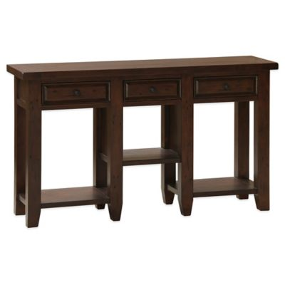 Hillsdale Tuscan Retreat® 3-Drawer Hall Table in Black/Antique Pine