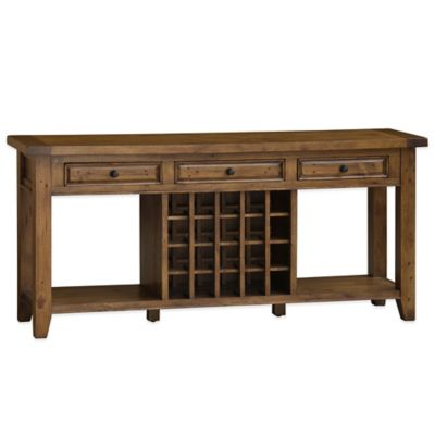 Hillsdale Tuscan Retreat® Sideboard with 20 Bottle Wine Storage in Black/Antique Pine