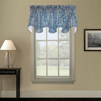 Pargo Scallop Window Valance in Blue
