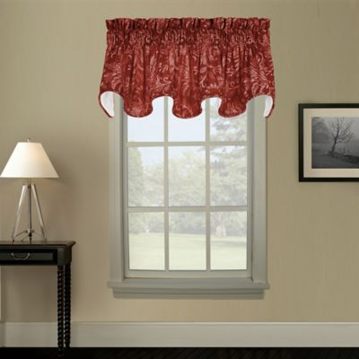Pargo Scallop Window Valance in Red