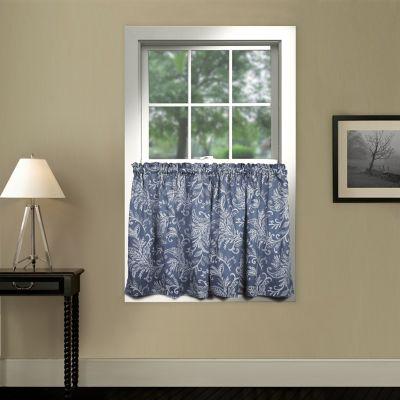 36 Blue Window Curtain Pair