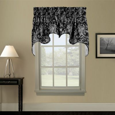 Pargo Window Curtain Swag Valance in Black