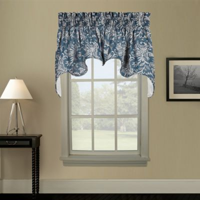Pargo Window Curtain Swag Valance in Blue