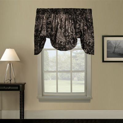Pargo Window Curtain Tie-Up Valance in Black