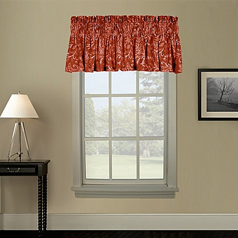 Buy Pargo Window Curtain Valance In Red From Bed Bath Beyond