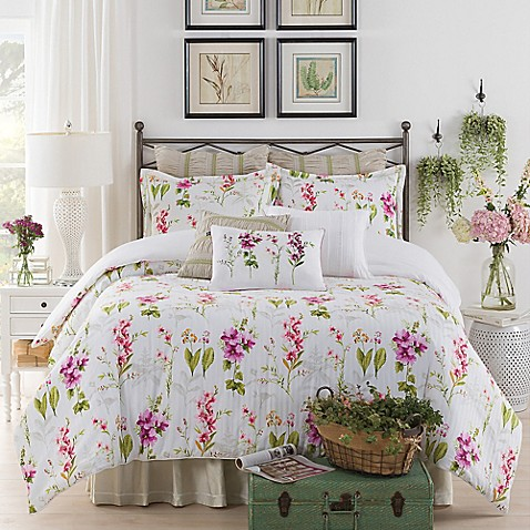 New York Botanical Gardens Liana Comforter Set In White