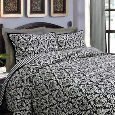 Black Reversible Bedding