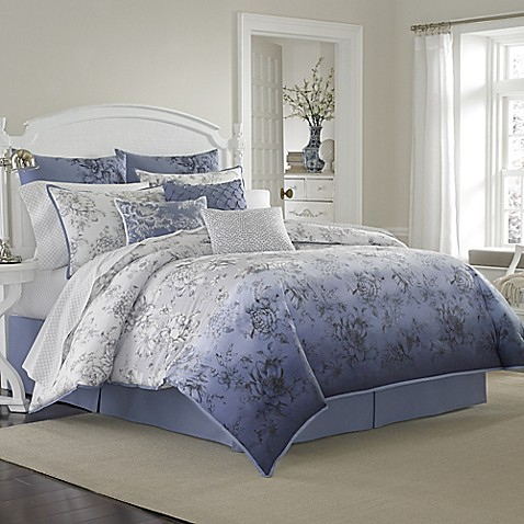 laura ashley delphine comforter set www. Black Bedroom Furniture Sets. Home Design Ideas
