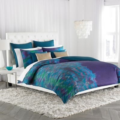 Amy Sia Midnight Storm Twin Duvet Cover in Blue