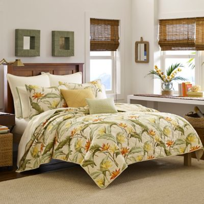Tommy Bahama Orange Queen Quilt