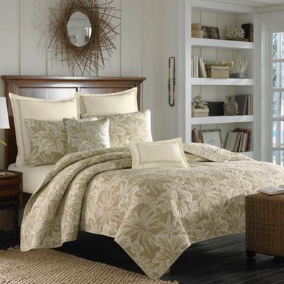 Tommy Bahama® Hanalie Hibiscus Twin Quilt in Neutral