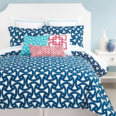 Trina Turk Blue Queen Duvet Cover