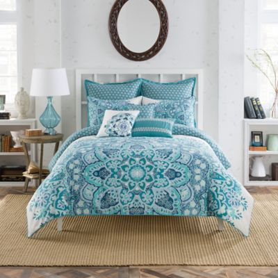 Anthology™ Kaya Reversible Twin Duvet Cover Set in Blue