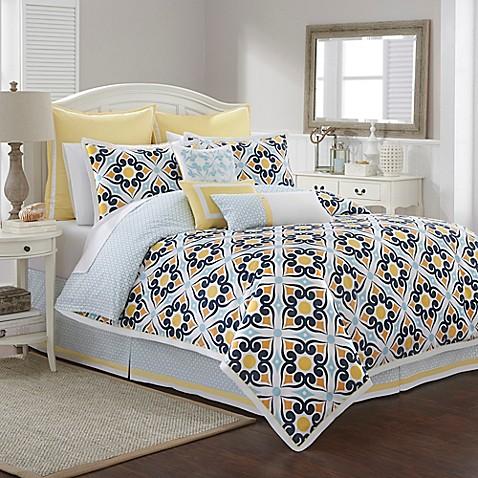 Southern tide savannah comforter set in lemon bed bath for Southern tide bedding