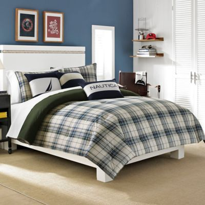 Nautica® Blake Twin Duvet Cover Set in Blue