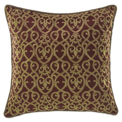 Croscill Ryland Fashion Throw Pillow in Red - Bed Bath & Beyond