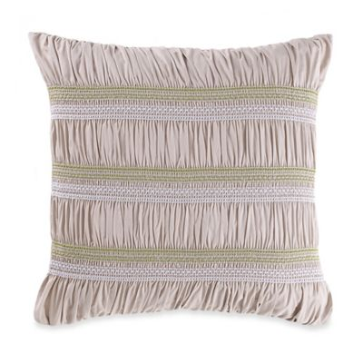 New York Botanical Gardens Liana Square Throw Pillow in Taupe