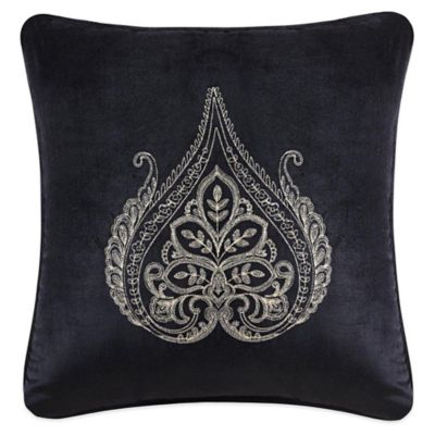 J. Queen New York Onyx Medallion Square Throw Pillow