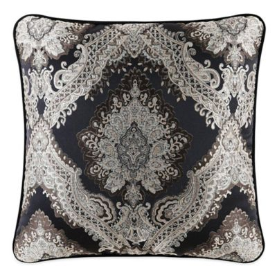 J. Queen New York Onyx Square Throw Pillow