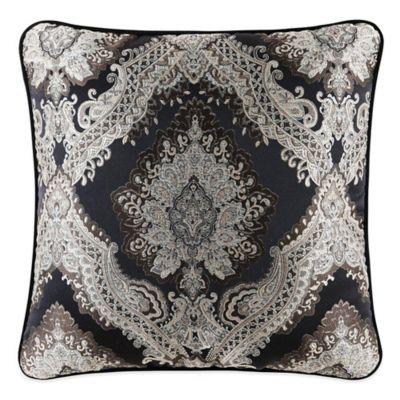 Onyx Square Throw Pillow