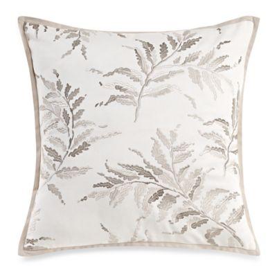 Laura Ashley Bracken Leaf Square Throw Pillow