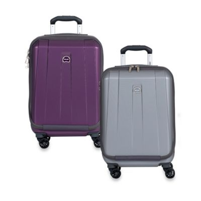 DELSEY Shadow International 19-Inch Expandable Carry On Spinner in Platinum