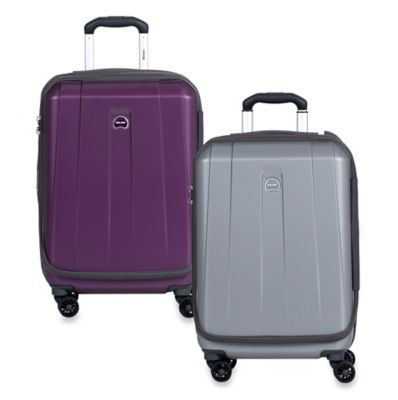 DELSEY Shadow International 21-Inch Expandable Carry On Spinner in Platinum