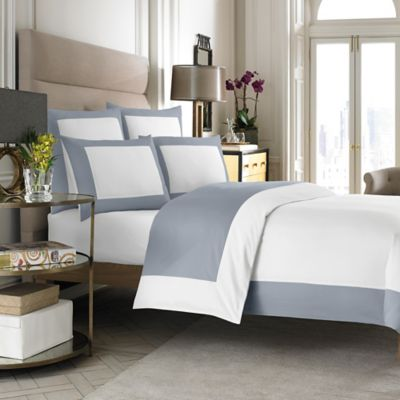 Wamsutta® Hotel MICRO COTTON® Reversible Twin Duvet Cover in White/Blue