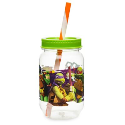 Zak! Designs® TMNT 19-Ounce Tritan Canning Jar Tumbler with Straw