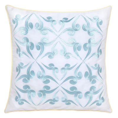 Southern Tide Savannah Square Throw Pillow in Blue