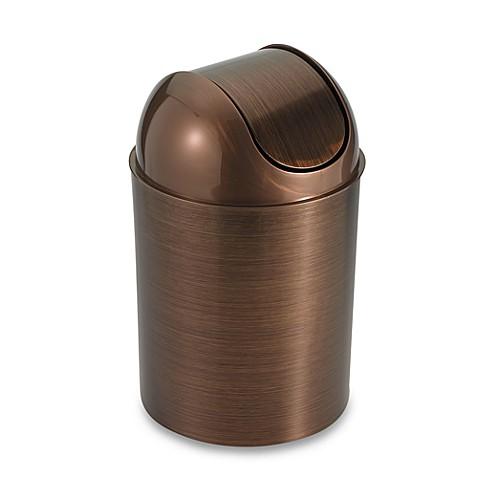 umbra mezzo bronze wastebasket bed bath beyond. Black Bedroom Furniture Sets. Home Design Ideas