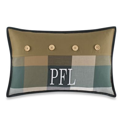 Oblong Throw Pillow in Khaki