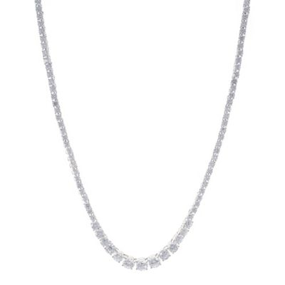 CZ by Kenneth Jay Lane Cubic Zirconia 16.5-Inch Strand Graduated Tennis Necklace