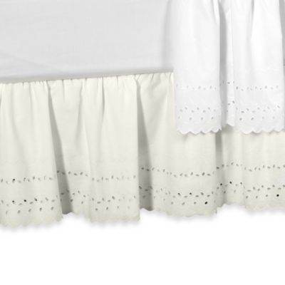 Elizabeth Eyelet Daybed Bed Skirt in White
