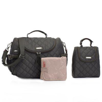 Storksak® Poppy Convertible Backpack in Grey
