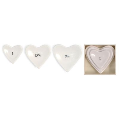 "Two's Company® ""I Love You"" Stackable Heart Ring Dish (Set of 3)"
