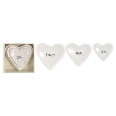 "Two's Company® ""Love, Hope, Dream"" Stackable Heart Ring Dish (Set of 3)"