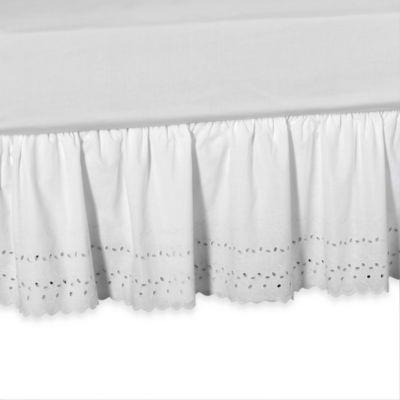 Elizabeth Eyelet Daybed Bed Skirt in White