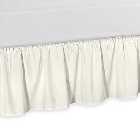 Smoothweave™ Ruffled Daybed Bed Skirt in Ivory