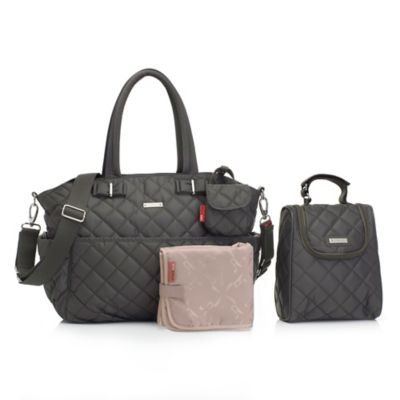 Storksak® 3-Piece Bobby Quilted Bag Set in Grey