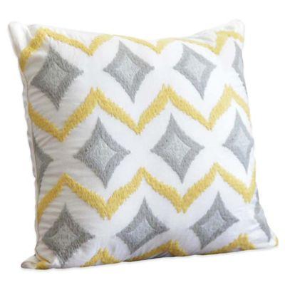 Embroidered Chevron Square Throw Pillow Throw Pillows