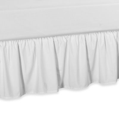 Smoothweave™ Ruffled Daybed Bed Skirt in White