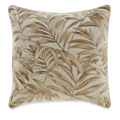 Tommy Bahama® Embroidered Botanical Square Throw Pillow in Ivory