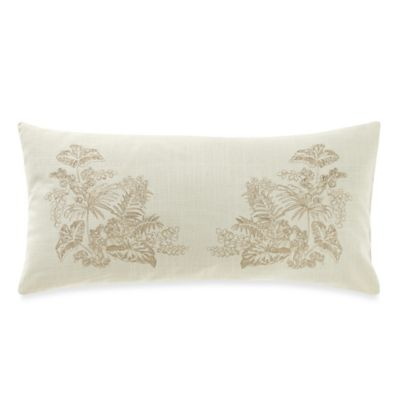 Tommy Bahama® Embroidered Botanical Floral Breakfast Throw Pillow in Ivory