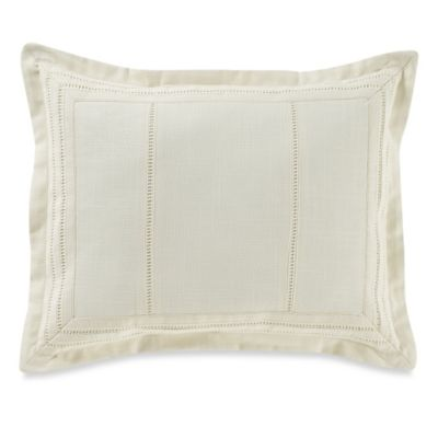 Tommy Bahama® Embroidered Botanical Hemstitch Breakfast Throw Pillow in Ivory