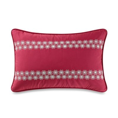 Anthology™ Kaya Eyelet Oblong Throw Pillow in Berry