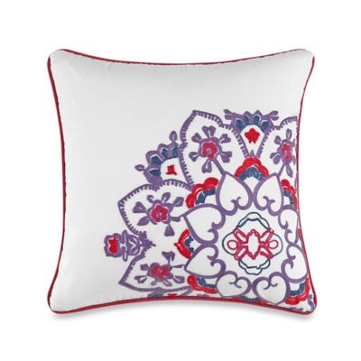 Anthology™ Kaya Medallion Square Throw Pillow in Berry