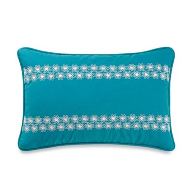 Anthology™ Kaya Eyelet Oblong Throw Pillow in Blue