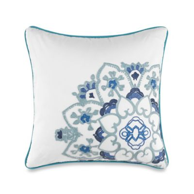 Anthology™ Kaya Medallion Square Throw Pillow in Blue